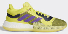 Adidas men's Marquee Boost Low basketball shoes - size 8.5 UK - yellow / purple