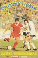 Liverpool vTottenham Hotspur21 Aug 1982 FA CHARITY SHIELD WEMBLEY FOOTBALL PROG