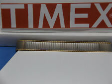 Timex Watch Band 14mm two Tone Expansion/Stretch Bracelet Gld/Silv Lds Watchband
