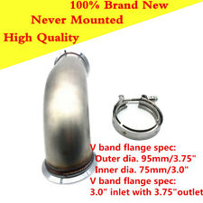 """90 Degree Universal Down-pipe with V Band Flanges 3.0"""" inlet with 3.75"""" outlet"""