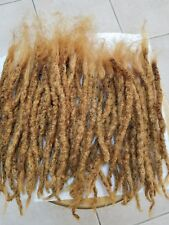 "100% nonprocess  Human Hair Locks handmade 8 pieces 1 cm thick up to 14"" Blonde"
