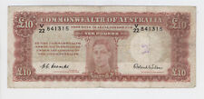 ONLY ONE ON EBAY Australia R61F FIRST PREFIX V/22 10 Pounds Coombs Wilson - KGVI