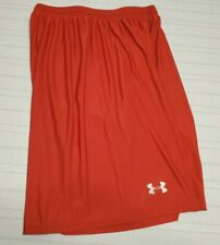 Under Armour Mens Red Training Basketball Shorts Size Large L