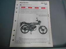 Honda Factory Set-Up instruccions 1982 MB5 90247