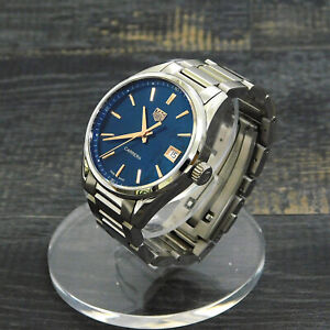 Rise-on TAG HEUER Carrera WBK1312 Stainless Steel Quartz Blue Wrist Watch #3