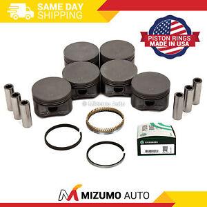 Pistons w/ USA Rings fit 97-09 Mazda Ford Mercury 4.0L V6 SOHC 12v VIN E K