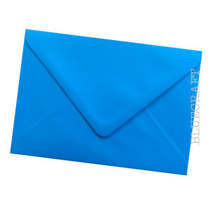 50 pack x C6 Premium Ocean Blue 100gsm Card Making Envelopes - 114 x 162mm