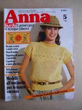 ANNA Burda n°5 1982 con cartamodelli  [C60]
