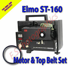 ELMO st-160 SUPER 8MM SOUND alle cine proiettore Cinture Set di 2