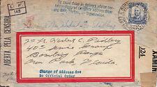 WW Cover -1943 Brasil -Forwarded Censor cover to U.S.A.-unusual markins  WW 7232
