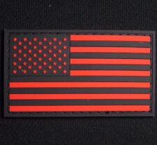 3D Pvc Usa Us United States American Flag Tactical Uniform Black Ops Red Patch
