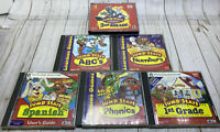 JumpStart Ages 5-8 PC Learning Games Lot Of 7 Math Phonics Music Spelling & More
