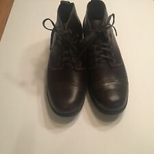 Eastland Women's Overdrive Ankle Brown Leather Boots Size 11M