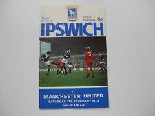 IPSWICH TOWN V MANCHESTER UNITED  17-02-1973  Season 1972-73