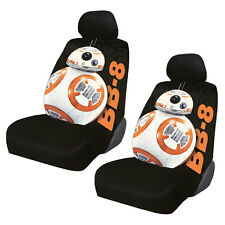 New Disney Star Wars BB-8 Car Truck 2 Front Seat Covers with Headrest Covers