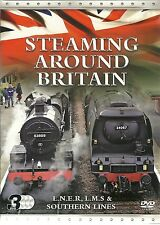 STEAMING AROUND BRITAIN - 3 DVD BOX SET LNER  LMS  & SOUTHERN LINES
