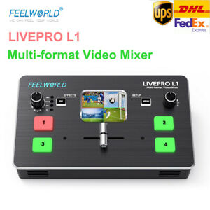 FEELWORLD LIVEPRO L1 Video Mixer/Switcher Multi-format 4 HDMI Input for Live