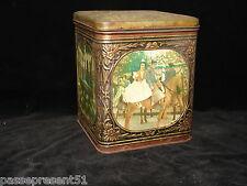 Jolie ancienne boîte en tôle, Confiserie DEMARET, décor Espagne, corrida