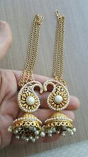 Pair of Golden  Earring bollywood indian Fashion Jewellery