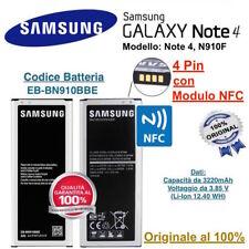 Batteria Samsung Galaxy Note 4 IV N910f con NFC 3220 mAh EB-BN910BBE Originale
