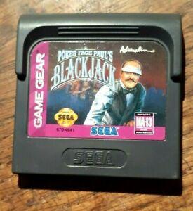 Poker Face Paul's Blackjack (Sega Game Gear)  Excellent Condition &  Authentic