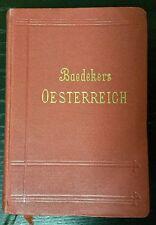 Baedeker Österreich Handbuch für Reisende 1910