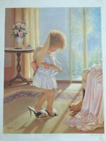"""Miguel Paredes Lithograph Print """"Playing Dress-up"""", Signed & Numbered, 100/950"""