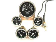 Willys Jeep MB GPW CJ Gauges Kit Speedometer MPH/KPH Temp Oil Fuel Amp-Chrome