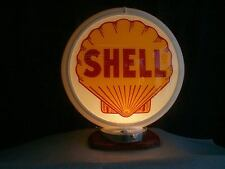 gas pump globe SHELL & LIGHT STAND NEW reproduction 2 glass lens
