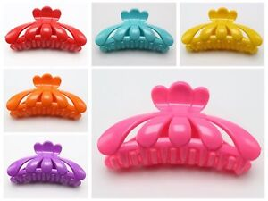 Large Bubblegum Color Plastic Hair Claw Clamp Clips 115mm Lady Women Hair Access