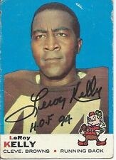 Cleveland Browns LEROY KELLY Signed 1969 Topps Card