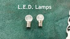 2pc. LED E10 Screw Base Fancy Globe Lamps for Lionel Stations, Street Lamps