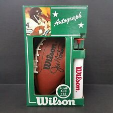 Vintage Wilson Joe Montana Autograph Ball with Pump and Tee Brand New