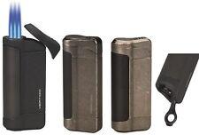 "Vertigo ""Tomahawk"" Antique Pewter Triple Torch Butane Lighter, Cigar Punch"