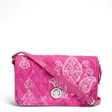 Vera Bradley Turnlock Crossbody Bag Purse Stamped Paisley NWT