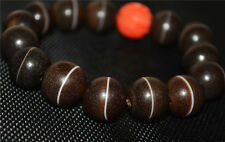 tibetan dzi bead old agate medicine bracelet mala banded prayer beads ancient