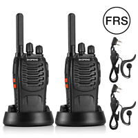 2Pack Baofeng BF-88ST FRS Handheld License-Free VOX Two-way Radio Walkie Talkie