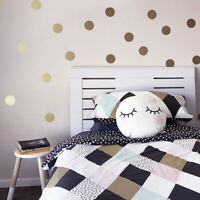Wall Polka Dot Sticker Gold Art Decals Room Kids Removable Mural Decoration New