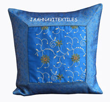 "Indian Handmade 16X16"" BROCADE work SILK Cushion covers Ethnic Homedecor Art 1-"