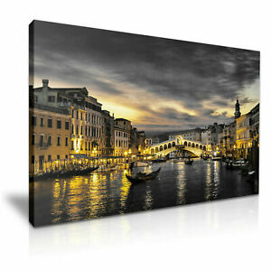 """Sunset Venice Italy PICTURE CANVAS WALL ART 20""""X30"""""""