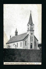 Johnson Creek Wisconsin WI c1908 Old Hilltop Catholic Church Building