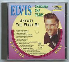 Rare Elvis Presley Picture Disc CD - ELVIS Through The Years Volume 2 - Import