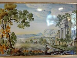 Ceramica Castelli faience paesaggio