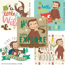 Curious George Stickers x 5 - Curious George Birthday Party Favours Monkey Party