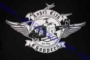 LAPD Los Angeles Police Air Support Division T-Shirt Angel City Chopper Logo