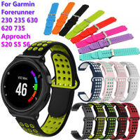 Silicone Watch Band Wristband for Garmin Forerunner 220 230 235 620 630 735XT HQ