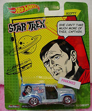 2014 Hot Wheels CUSTOM '52 CHEVY☆Lgt Blue;SCOTTY;Realrider☆STAR TREK☆Pop Culture