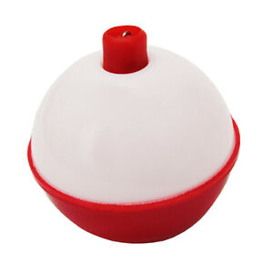 """Eagle Claw Snap on Round Plastic Float Bobbers 1-1/2"""" Red/White 2/Pk 07020-004"""