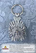 Western Cowboy Jewelry Antique Silver Indian Skull Concho Key Ring Kit