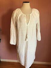 Nili Lotan for JCrew Eyelet Boho Dress XS Cover-Up White A6998